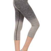 Charcoal Ombre Cropped Athletic Pants