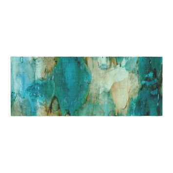 "Rosie Brown ""Waterfall"" Teal Blue Bed Runner - Outlet Item"