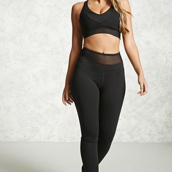 Active Mesh Waist Leggings