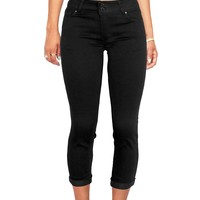 Burnout Capri Jeans