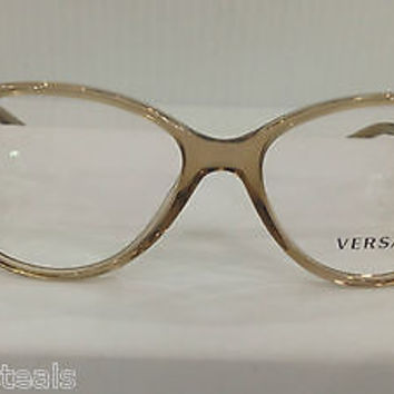NEW AUTHENTIC VERSACE VE3161 COL 617 BROWN PLASTIC EYEGLASSES FRAME MOD 3161