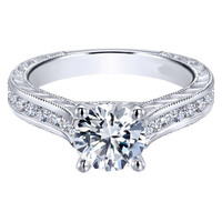 "Ben Garelick Royal Celebrations ""Ophelia"" Prong Set Diamond Engagement Ring"