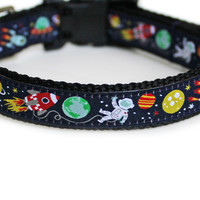 Outer Space Dog Collar