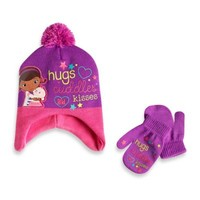 Rising Star Toddler Doc McStuffins Hat and Mitten Set