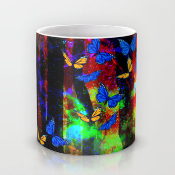 butterfly forest Mug by Haroulita