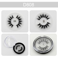 Fashion Eyelashes 3D Mink Fake Eyelashes Thick Mink Lashes Professional Makeup Individual Eye Lashes Fake False Eyelashes D808