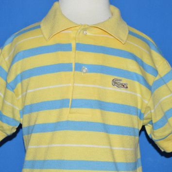 2aea37346 The Captain's Vintage $39.99. 80s Izod Lacoste Yellow Striped Polo Shirt  Toddler 3T