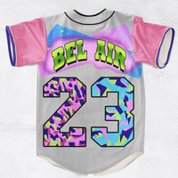 Fresh Prince Bel-Air 3D Sublimation Print Baseball Jersey