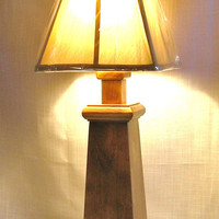 Alana Handmade Wood Mission-Style Lamp Table Lamp Accent Lamp USA Hi-Life Furniture