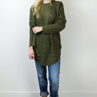 Cable Car Knit Sweater