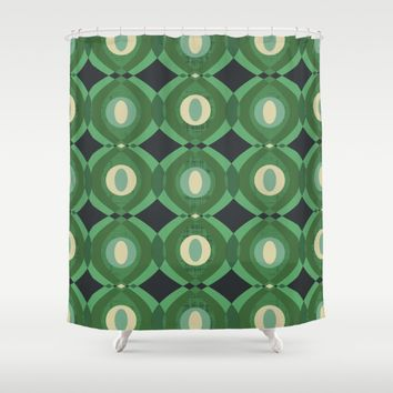 Here Comes Thursday Shower Curtain by Lisa Jayne Murray - Illustration