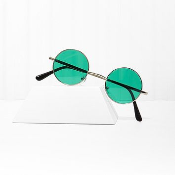 Free Love Round Green Sunglasses