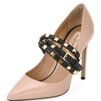 Valentino Rockstud Wrap Leather Pump