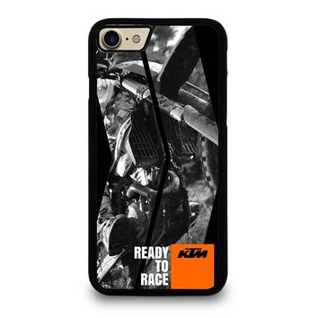 KTM MOTORCYCLE READY TO RACE iPhone 4/4S 5/5S/SE 5C 6/6S 7 8 Plus X Case