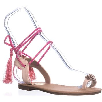 Circus by Sam Edelman Binx-1 Flat Sandals, Natural Naked, 9 US / 39 EU
