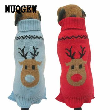 Dog Warm Reindeer Sweater