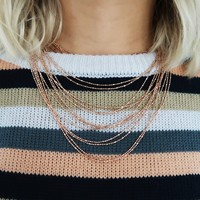 Let It Be Necklace: Gold