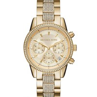 Michael Kors Ritz Chronograph & Date Crystal Bracelet Watch | Dillards