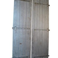 Lucca Antiques - Garden & More: Pair of 19th Century Wood Doors