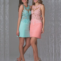 2016 Pretty Charming Appliques Crystal Mini Satin Cocktail Dresses Scoop Sleeveless Hollow Back Party Dress Plus Size