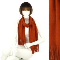 Amazon.com: Fashion Chic Soft Acrylic brushing napped - Fashion Scarf Shawl Wraps - Rust Orange - CS0715: Clothing