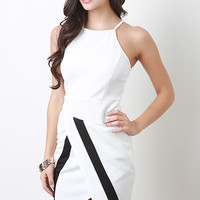 Angle Overlay Hem Dress
