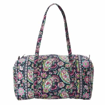 Large Duffel in Petal Paisley