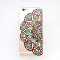 iPhone 6 Case LUOLNH Henna Series Hang Feather Pattern Clear Bumper Hard Case Ba...
