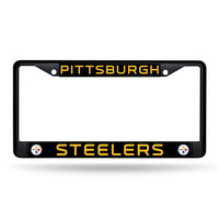 PITTSBURGH STEELERS BLACK LICENSE PLATE FRAME