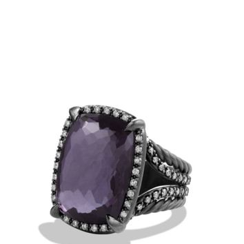 David Yurman Ring with Black Orchid and Gray Diamonds | Bloomingdales's