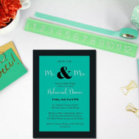 Printable rehearsal invitation / teal rehearsal invite / wedding rehearsal invitation / modern wedding rehearsal invitation - Edit Listing - Etsy