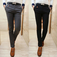 Fashion Men Skinny Fit Dress Pants