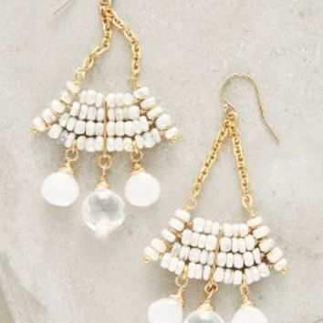 Catherine Page Chevelle Earrings in White Size: One Size Earrings