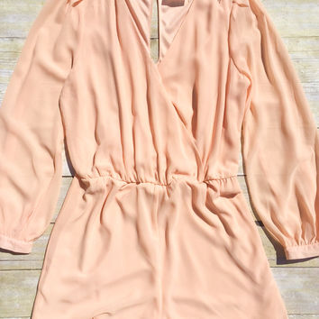 Sunkissed Peach Romper