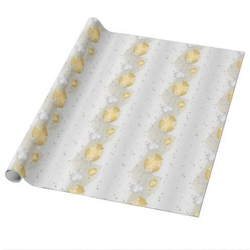 Silver and Gold Wrapping Paper