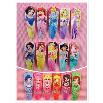 20 Pcs Snow White Sofia Princess Hair Pin Cute Kids BB Cinderella Hair Clips Hair Bows Girls Rim Hair Accessories 33