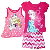 "Disney Frozen Toddler Girls' ""Sisters Forever"" 3 Piece Tank Top Shorts Set"