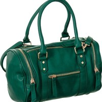 Green Melie Bianco ''Brooklyn'' Crossbody Convt. Satchel