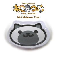 Neko Atsume Kitty Collector Die Cut Mini Melamine Tray (Point-san / Marshmallow)