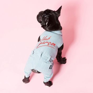 Trendy Denim Dog Clothes Couple Pet Overalls For Dogs Jumpsuit Dogs Pets Clothing For Dog French Bulldog Pets Products Pet Coat Jacket AT_94_13
