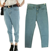 Boyfriend Jeans For Women Loose Denim Pants Women Jeans BF Style Plus Size Pants Trousers Women's Jeans Femme Woman Oversized