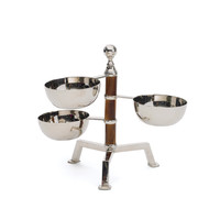Go Home Tiered Bamboo Bowl Stand - 10876