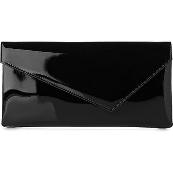 LK BENNETT Leonie patent-leather asymmetric clutch