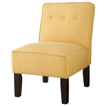 Burke Slipper Chair with Buttons