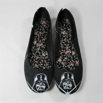 Glow in the Dark Darth Vader Star Wars Shoes -Choose Your Shoe Style-Unisex-Wedding-Geek-Mens-Bridal Shoes-Prom-Graduation Gift-Custom Shoes