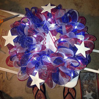 Custom made tulle or deco mesh wreaths! Available in sports teams, holidays, or 'just because'! Order your custom wreath today!