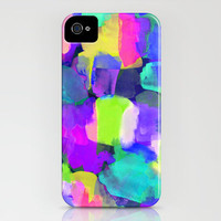 Brushstroke Blue iPhone Case by Amy Sia | Society6