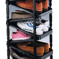 A Shoe Rack, Shoe Organizer, Go Vertical Save Space, Foldable on Wheels: