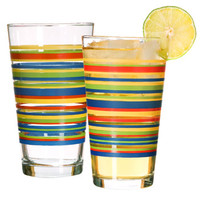 "Bulk ""Mambo"" Striped Glass Tumblers, 16.2 oz. at DollarTree.com"