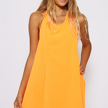 One Trick Dress - Neon Orange